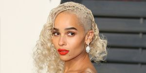 Zoe Kravitz Bleach Blonde Hair