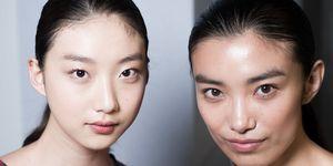 skin essences asian models backstage fashion