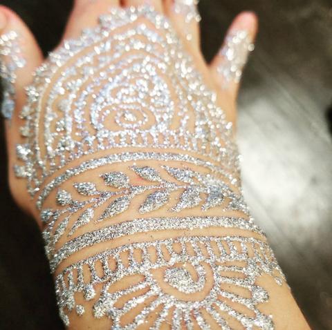 Glitter Henna Designs