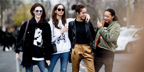Paris Fashion Week Models Off Duty Autumn Winter 2017