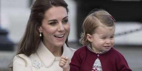 Kate Middleton and Princess Charlotte   ELLE UK