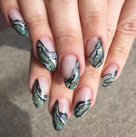 Geode Nail Designs