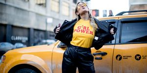 street style slogan t-shirt girl power