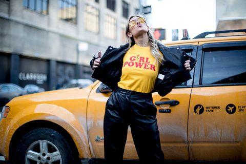 street style slogan t-shirt girl power