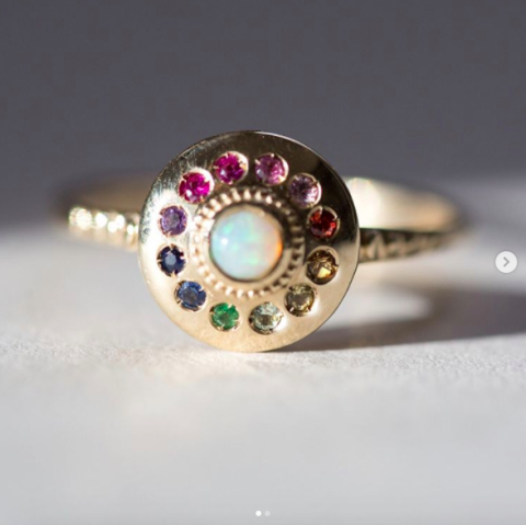 Catbird NYC Coloured Engagement Ring