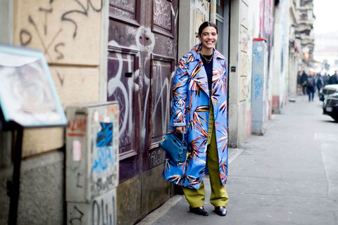 Street fashion, Blue, Fashion, Snapshot, Street, Urban area, Textile, Infrastructure, Electric blue, Photography,