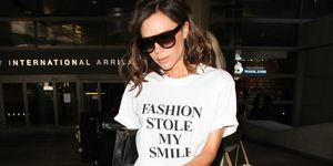 Victoria Beckham wears slogan t-shirt she designed herself