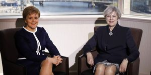 Theresa May and Nicola Sturgeon in Glasgow | ELLE UK