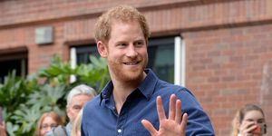 Prince Harry waving | ELLE UK