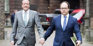 Netherlands politicians holding hands | ELLE UK