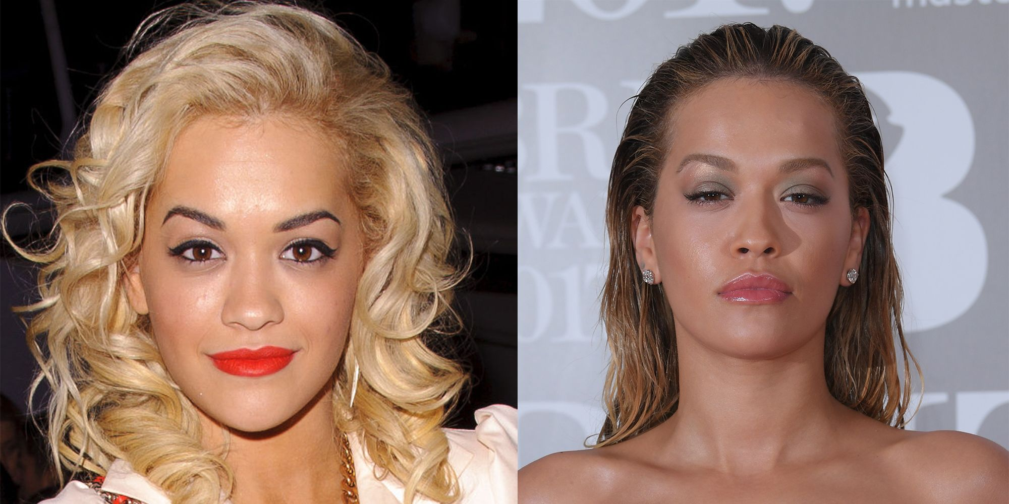 Rita Ora Eyebrows Before And After