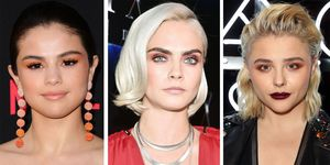 Celebrities with peach eyeshadow and pink eyeshadow