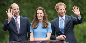 Prince William, Prince Harry and Kate Middleton | ELLE UK