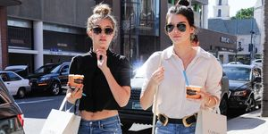 Kendall Jenner and Gigi Hadid out in California street style