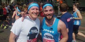 Jonny Benjamin, Neil Laybourne run the marathon