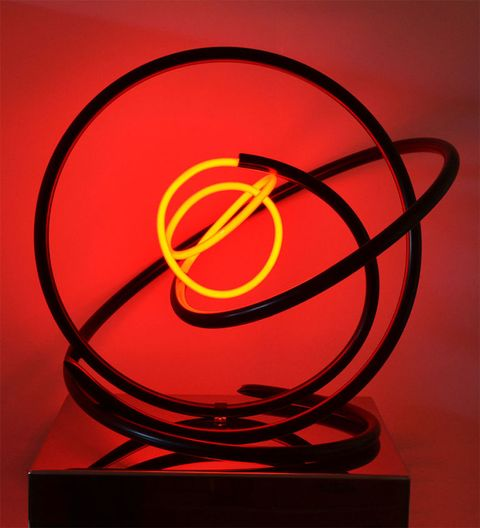 Red Neon by Zoe Grace, Morphosis at  West Contemporary, Gallery Different, 14 Percy St, London
