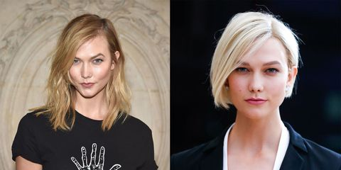 Celebrity Hair Transformations Long Short Brunette Blonde Fringes And Bobs 2017