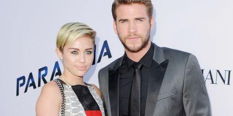 Miley Cyrus and Liam Hemsworth | ELLE UK