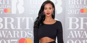 Maya Jama at the Brit Awards 2017