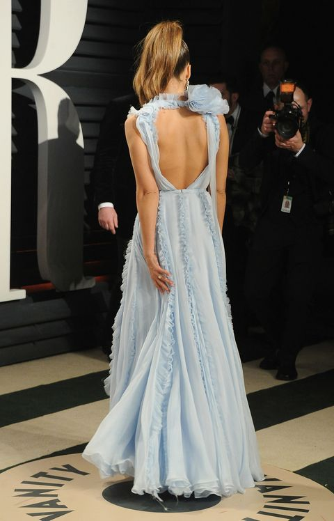Jessica Alba Ralph & Russo gown at Vanity Fair oscar's party 2017