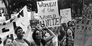 women protest for equality