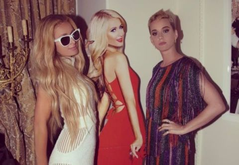 Paris Hilton and Katy Perry hangout at Paris's mansion