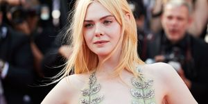 Elle Fanning wearing Gucci dress at Cannes 2017