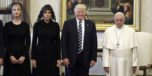 Trump meets Pope | ELLE UK