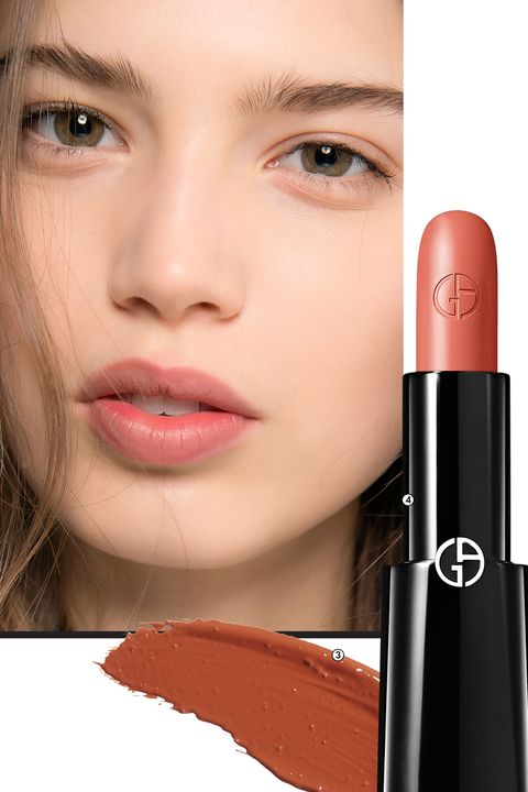 """<p>The Alexis Mabille show—in which models' mouths were shaded an intriguing brownish red, the unofficial lipstick color of the '90s—was basically one giant shout-out to the Nirvana era. For fair skin, makeup artist Lloyd Simmonds, using M.A.C Trend Forecast Fall 2017 lip palette (3), mixed a """"true beige"""" with a hint of """"dusky rose."""" To prevent beige undertones from skewing gray on darker complexions, Simmonds advises mixing a rose hue (we like Giorgio Armani Rouge d'Armani Lipstick in Bamboo (4)) with a raspberry shade.<span data-redactor-tag=""""span"""" data-verified=""""redactor""""></span></p><p>MAKE WAVES:&nbsp;<em data-redactor-tag=""""em"""">Blast hair with a tousle- accentuating finishing spray, such as Redken Wind Blown, before curling or weaving a (mussed) braid.</em></p>"""