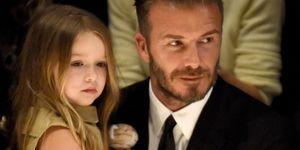 David Beckham and Harper Beckham   ELLE UK