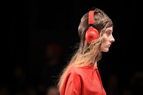 A model walks the runway during the Akira show at Mercedes-Benz Fashion Week on May 18   ELLE UK