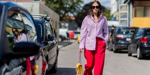 purple and pink street style