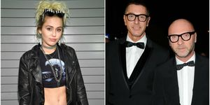 Miley Cyrus, Domenico Dolce and Stefano Gabbana | ELLE UK