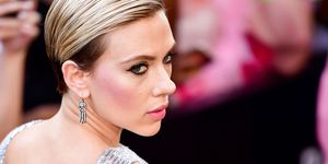 Scarlett Johansson at rough night new york premiere in silver dress