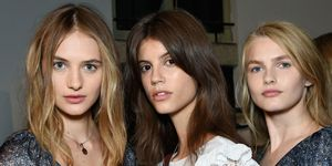 Models backstage at Philosophy di Lorenzo Serafini, Fashion Week