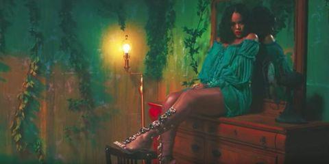 Green, Musician, Adaptation, Sitting, Digital compositing, Art, Music, Black hair, Screenshot,