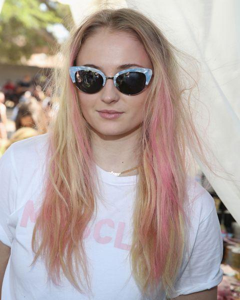 Sophie Turner Rose Gold Hair