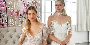 a wedding dress couture presentation at fashion week