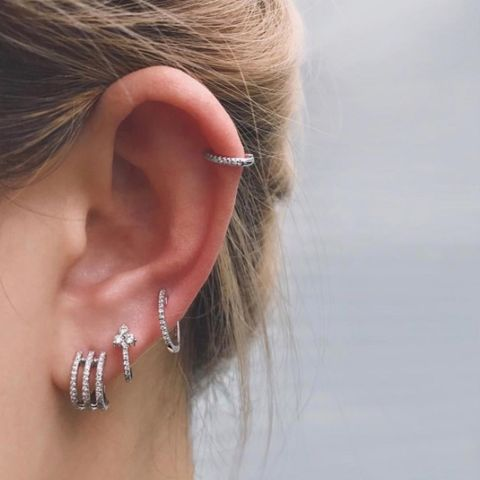 1b50eb01f9782 Ear Piercings - Multiple Ear Piercings Inspiration For Curating Your ...
