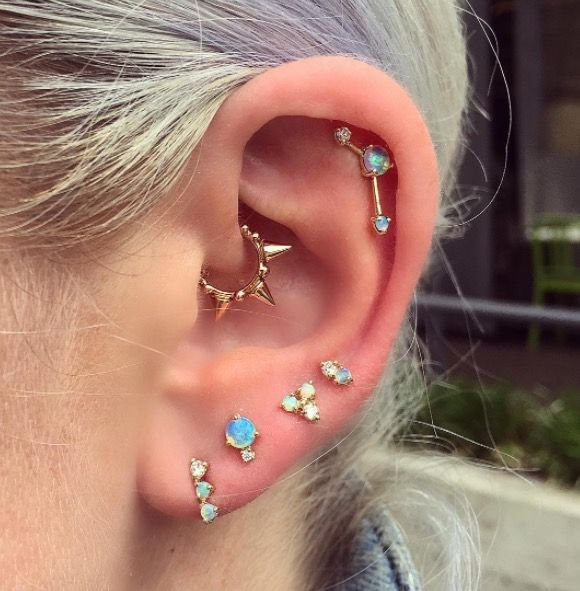 Ear Piercings Multiple Ear Piercings Inspiration For Curating Your