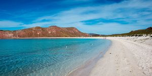 White sand beach at San Francisco Island in the Sea of Cortez in Baja California, Mexico | ELLE UK