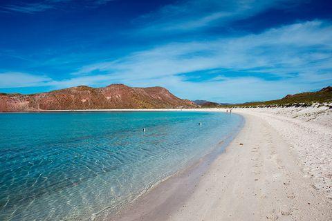 White sand beach at San Francisco Island in the Sea of Cortez in Baja California, Mexico | ELLE UK