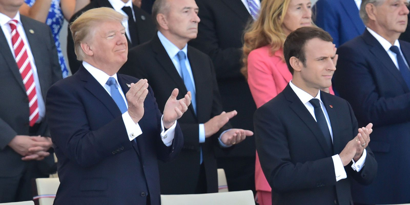 French army performs incredible Daft Punk medley and Trump has no idea what is happening