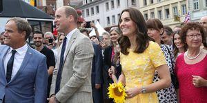 Prince William, Kate Middleton visit a German market