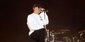 Chester Bennington of Linkin Park performs at The O2 Arena on July 3, 2017 in London | ELLE UK