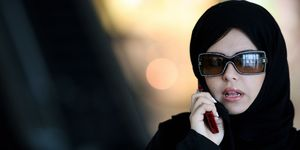 Saudi Arabian woman on the phone