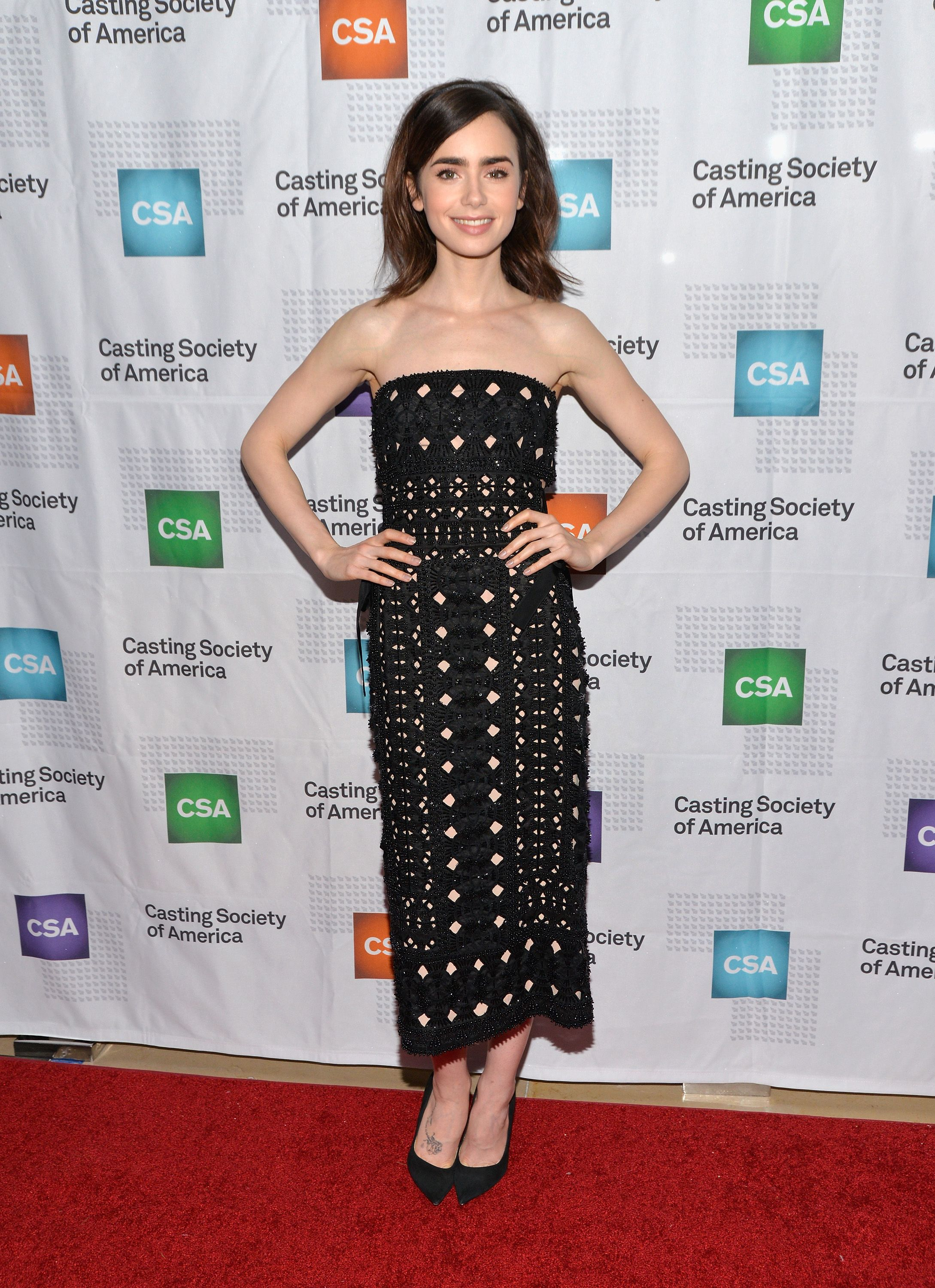 fb59ba99c0df12 Lily Collins' Style File - Every One Of Lily Collins' Red Carpet Outfits
