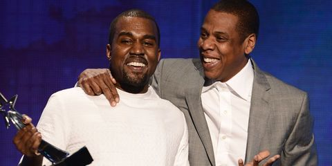 Kanye west and Jay-Z   ELLE UK