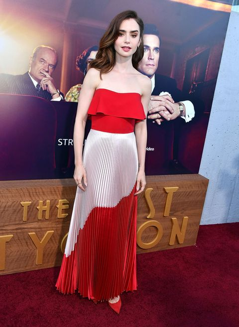 da37256bb367b Lily Collins' Style File - Every One Of Lily Collins' Red Carpet Outfits