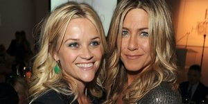 Reese Witherspoon (L) and Jennifer Aniston attend ELLE's 18th Annual Women in Hollywood Tribute held at the Four Seasons Hotel on October 17, 2011